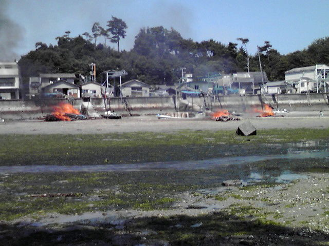3台目の筏焼却